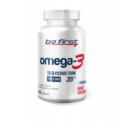Be First Omega-3 + витамин Е 90 гелевых капсул