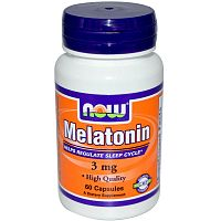 NOW Melatonin 3 мг 60 капсул